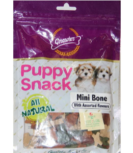 Gnawlers Puppy Snack Mini Bone Assorted Flavours Dog Treat