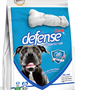 Gnawlers Dent Defense Anti Bacterial, Dental Chew Bone for Dogs Medium